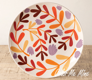 Fort Collins Fall Floral Charger