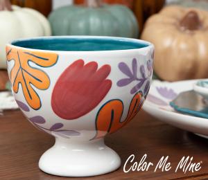 Fort Collins Floral Pedestal Bowl