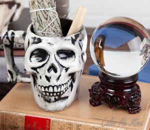 Fort Collins Antiqued Skull Mug