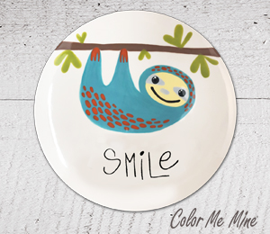 Fort Collins Sloth Smile Plate