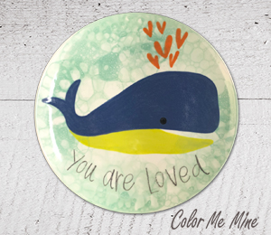 Fort Collins Whale Love Plate