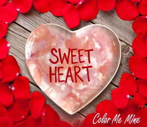 Fort Collins Candy Heart Plate