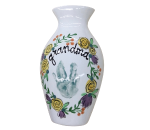 Fort Collins Floral Handprint Vase